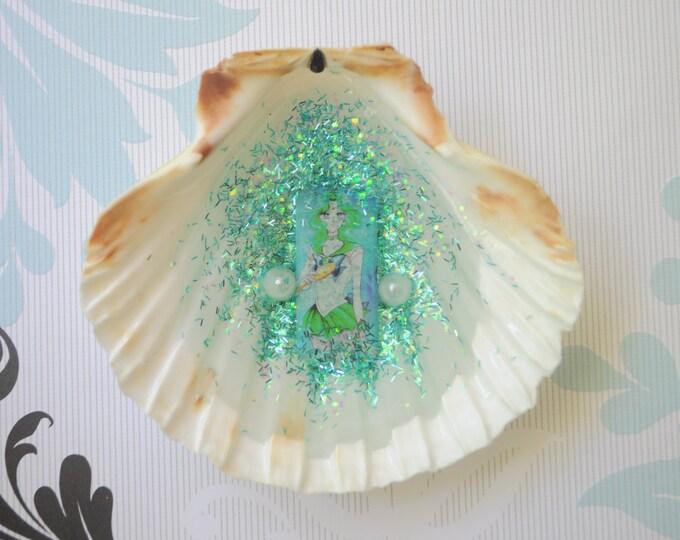 Sailor Neptune Sea Seashell Resin Tile