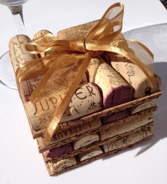 Wine cork coasters set of four by maxplanationphotos on for Cork coasters for crafts