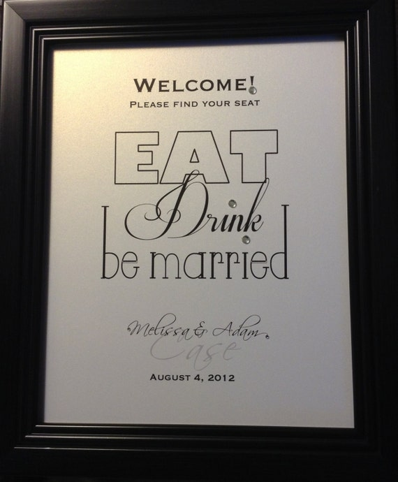 Wedding Reception Sign Escort Card Table Welcome Sign