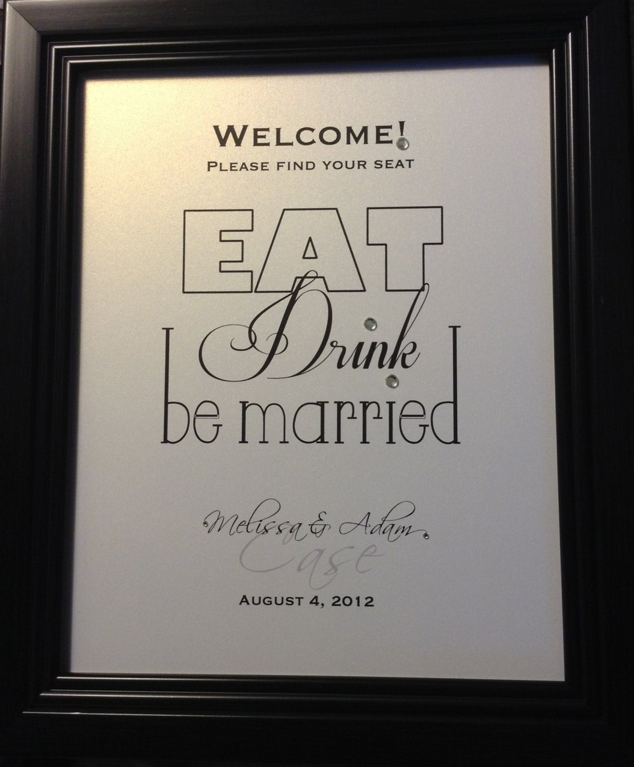 Wedding Reception Signs Ideas: Wedding Reception Sign Escort Card Table Welcome Sign