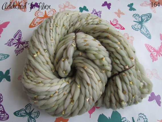 Handspun Merino Swirls Art Yarn , Random Thick n Thin 100gms/3.5oz, UK seller