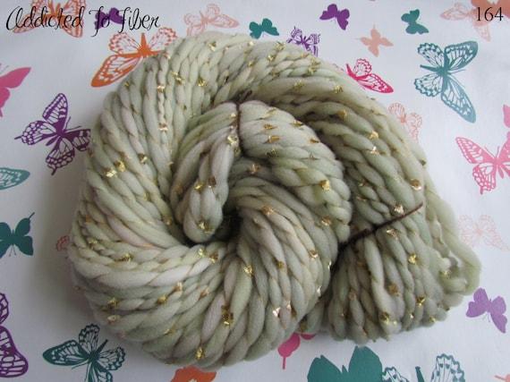 Handspun Merino Swirls Art Yarn , Random Thick n Thin 100gms/3.5oz, UK seller