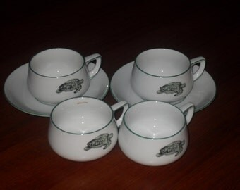 Thomas of Germany Vintage Retro Lacroix  coffee cups and saucers.