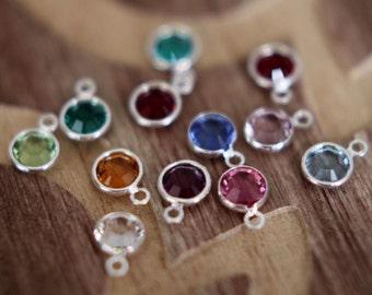 Swarovski Charm on Sterling Silver Jump Ring, Swarovski Crystal Add On, Design Your Own Necklace