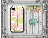 Pastel Trees iPhone Case, Colorful Trees Phone Case, Plastic iPhone Case, Fits iPhone 4, iPhone 4s, iPhone 5, 5s, 5c, iPhone 6, Phone Case