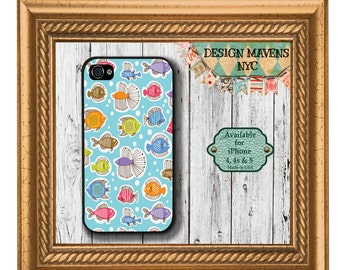 School of Fish iPhone Case, Ocean iPhone Case, Fish iPhone 6, iPhone 4 Case, iPhone 4s, iPhone 5, 5s, 5c, iPhone 6, Phone Case, Phone Cover
