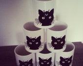 BlackMoonPuss - Black cat of the moon mug