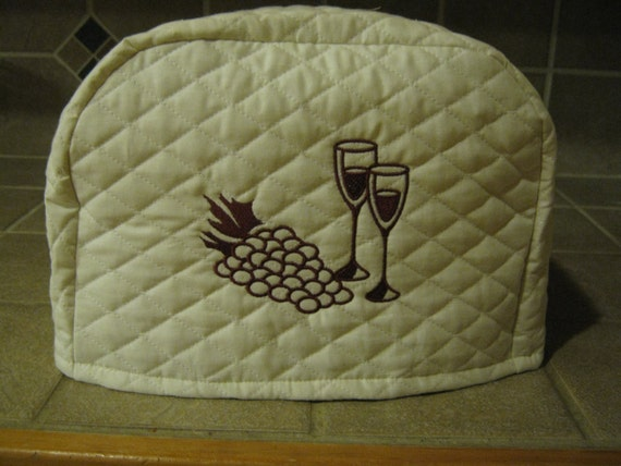 2 slice wine themed toaster cover by sewnbystacy on etsy. Black Bedroom Furniture Sets. Home Design Ideas