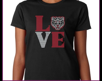 Love Square Bear  Rhinestone T-shirt