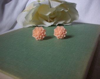 Flower earrings,Post earrings,Shabby chic earrings,Minimalist jewelry,Unique gift