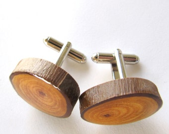 Wood Cuff links, Groom Cuff links, Mens Cuff links, Gifts for Him, Wooden Cuff links