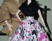 Barbie Print Fabric Skirt
