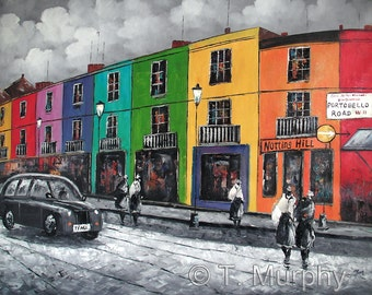 Portobello Road Notting Hill London - Original Oil on Canvas Painting