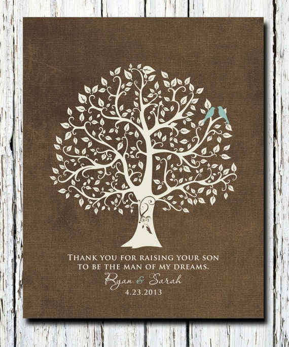 Wedding Gift For Parents Etsy : Wedding Gift for Parents from Bride and Groom, Thank you gift for ...