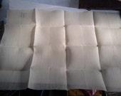 28ct cream Dublin linen fabric for cross stitching - 19 1/2 in x 27 in - 49 cm x 68 cm