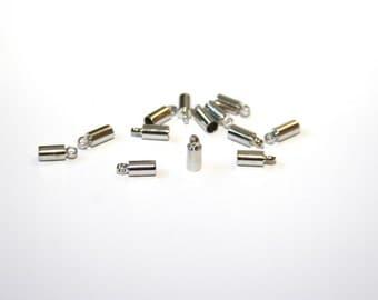 10 piece platin colored end caps 3x9mm EK17