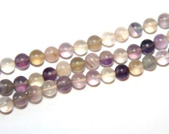 40 PCs / 8mm / fluorite / gemstone beads   HE089-8