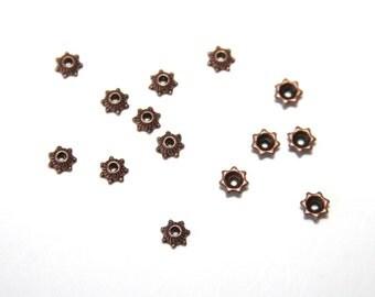 25 PCs Bead Caps / Metal Beads / 5mm / antique copper tone  PK018
