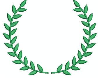 Machine Embroidery Design Instant Download - Laurel Wreath 1