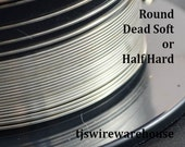1/10 Silver Filled Wire, 10g to 18g, ROUND, Dead Soft, Half Hard, Length Choice,  Wholesale