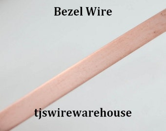 "Copper Bezel Wire, Solid, 24 or 28 ga, 1/8"" wide, 5 ft. Length"