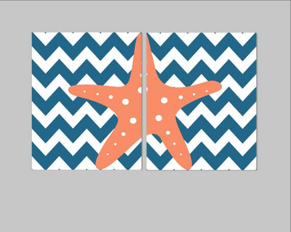 Nautical Themed Kids Room : Nautical Nursery Decor- Ocean Themed Kids Room- Set of 2 Prints ...