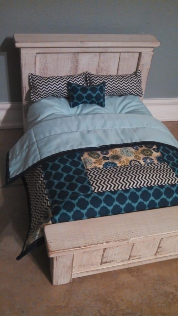 Items Similar To American Girl Custom Made Bedding Set
