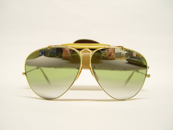 ray ban sunglasses aviator vintage  reserved for huong n. vintage ray ban aviator sunglasses b&l 1/10