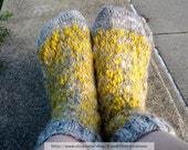 Hand Knit Socks with hand spun and hand dyed yarn