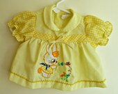 80s Yellow Bunny Shirt/ Infant Shirt