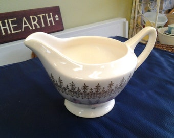On Sale French Saxon China 22 K Creamer with Pink and Gold