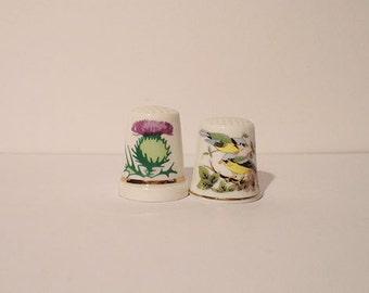 Vintage Porcelain Thimbles
