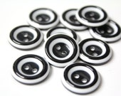 20 Pcs Black and White Buttons for Sewing - For Fashion Crafts Supplies and Accessories