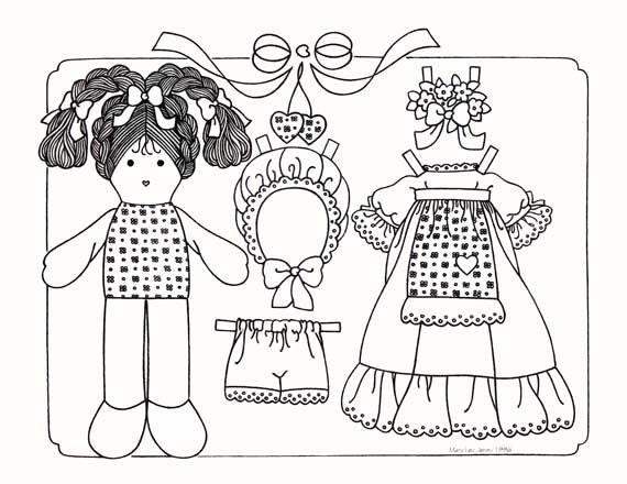 rag dolls printable coloring pages - photo#15