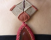 RED MOON, Agate //// Tribal, ethnic, artwork, handmade, handcraft, gemstone, macramé