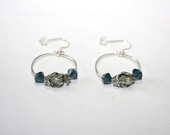 "OR 14 - hoops ""Blue - smoked"" - nickel-free"
