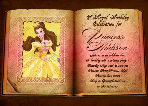 Beauty And The Beast Party Invitations was awesome invitation sample