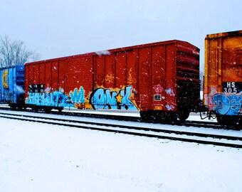 SPECIAL SALE ON:  Graffiti Train in Snow