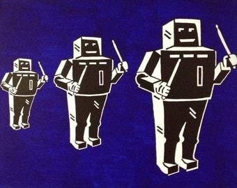 Robot Pop Art Painting