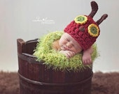 The Very Hungry Caterpillar Newborn Photo Prop Hat and Cocoon