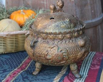 Bronze Dragon Incense Burner - Nepal