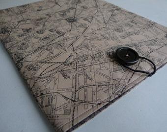 iPad Case, iPad Sleeve, iPad Cover - iPad 2 Sleeve  iPad 3 Sleeve - iPad 4 Sleeve - Apple iPad - Tea-Stained Map