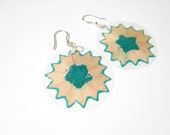 MIRò: earrings in clear plastic with colored pencil and l hook in silver 925.