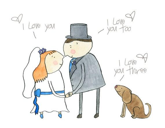 Wedding card gay+ dog