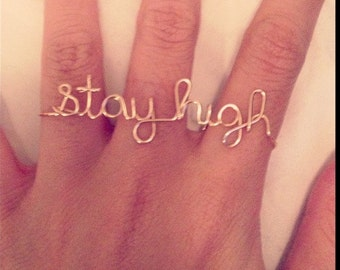 Customized/ Personalized Triple Finger Wire Rings