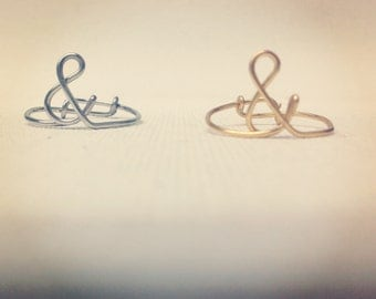 """Ampersand """"&"""" Wire Ring (1)"""