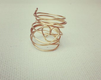 Twisted Heart Ring