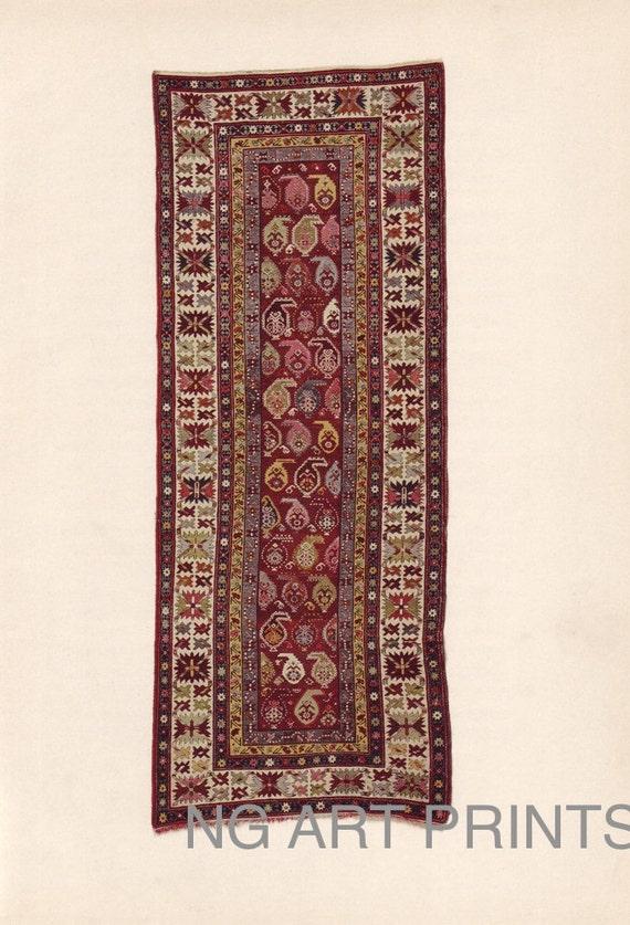 Antique Oriental Rug Print Turkish Rug Print Middle By