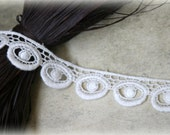 Ivory Venice Bridal Crafting Embroidered Fabric Lace Trim LA-079