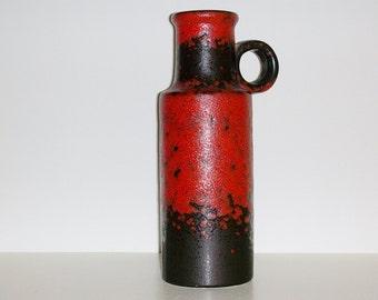 Mid Century Scheurich keramik ceramic handled vase, 401-28, West Germany WGP